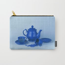 Blue tea party madness - still life Carry-All Pouch