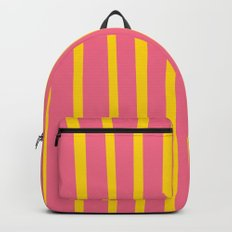Pink and Yellow Stripes Backpack