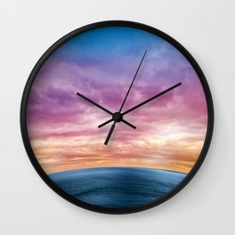 Rainbow Planet Wall Clock