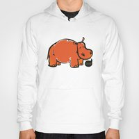 hippo Hoodies featuring Hippo by ILINDESIGNS