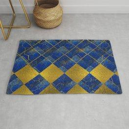 Lapis Lazuli and gold pattern Rug