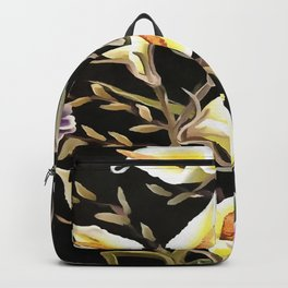 Arum Lily Artistic Floral Design Backpack