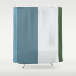 Parable to Behr Blueprint Color of the Year and Accent Colors Vertical Stripes 11 Shower Curtain