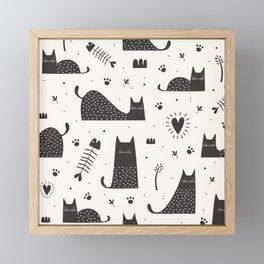 black cats Framed Mini Art Print