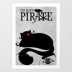 The Black Pirate Art Print