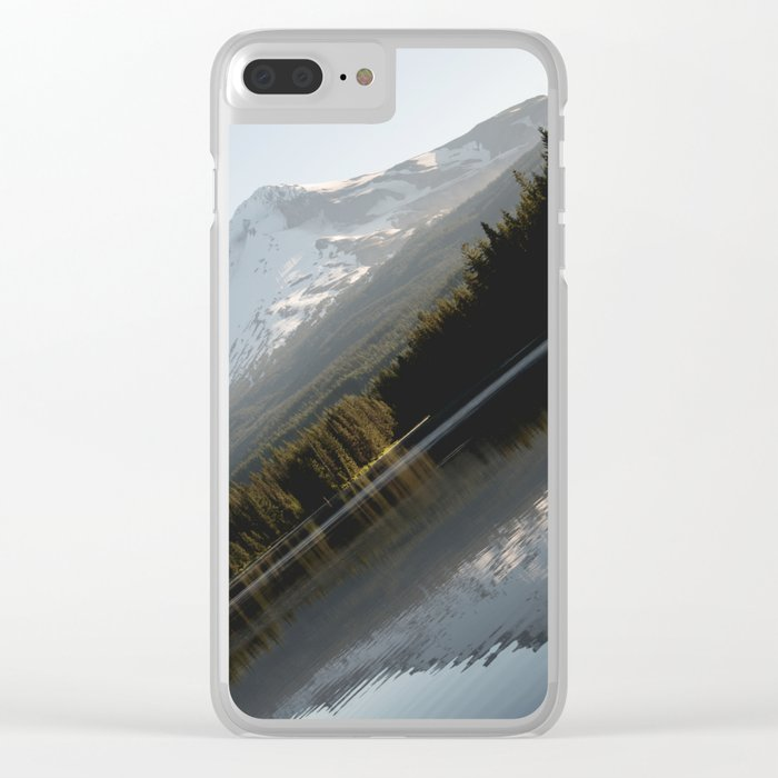 Mountain Slide Clear iPhone Case