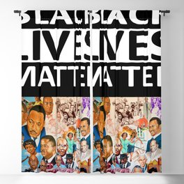 Black Lives Matter - African American Leaders and Heroes Blackout Curtain