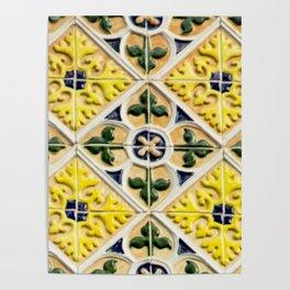 Portuguese azulejos Poster