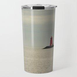 Red Lighthouse Travel Mug