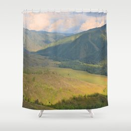 mountain pasture Shower Curtain