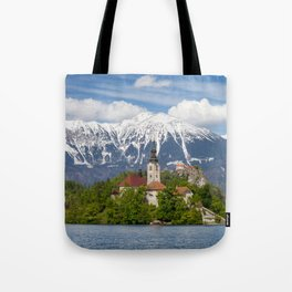 Bled Landscape Tote Bag