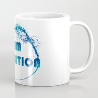 playstation Mugs featuring Team Playstation by Bradley Bailey