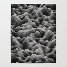 White Waves Poster