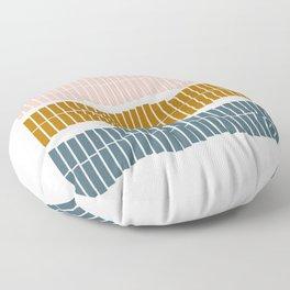 Geometric Piano Keys Floor Pillow