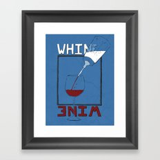 Whine to Wine Framed Art Print