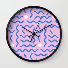 CRAZY RETRO 90s PRINT Wall Clock