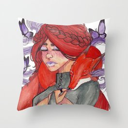 Fox Witch Throw Pillow