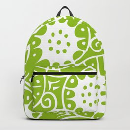 Lime Swirl Pattern | Swirl Pattern | Abstract Patterns | Green and White | Backpack
