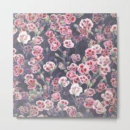 Carnations Pattern Metal Print