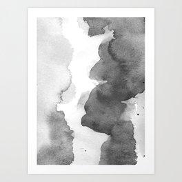Charcoal (Watercolor blends) Art Print