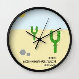CACTUS - Font Love Wall Clock