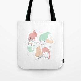 Colorful mermaids Tote Bag