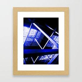 Crazy Blue Lines Framed Art Print