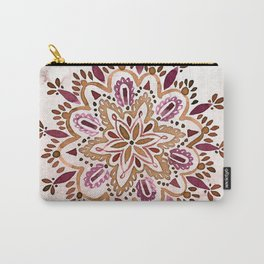 Burgundy Mandala Carry-All Pouch