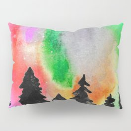 Northern Lights In The Sky - Green and Red Palette Pillow Sham