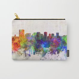 Richmond skyline in watercolor background Carry-All Pouch