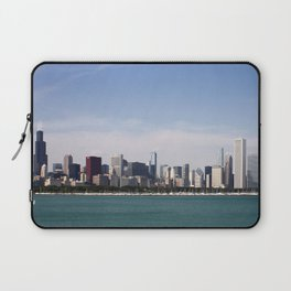 Chicago Skyline Day Photography Laptop Sleeve