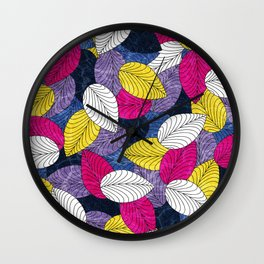 Let the Leaves Fall Wall Clock
