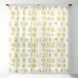 Sweet Lemon frog Sheer Curtain