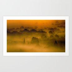 Through The Mist Box Hill Surrey Art Print