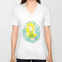 fairy V-neck T-shirts featuring Fairy by Maria Jose Da Luz
