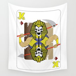 Pharaoh Skull Playing Card Wall Tapestry