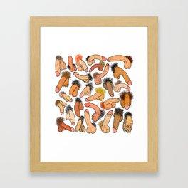 Weenies Peens Schlongs  Framed Art Print