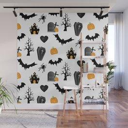 Halloween Pattern Wall Mural