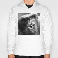 gorilla Hoodies featuring Gorilla by SwanniePhotoArt