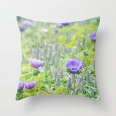 Poppy Anemone Throw Pillow