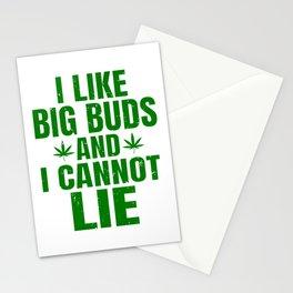 I Like Big Buds And I Cannot Lie Funny Marijuana Stationery Cards