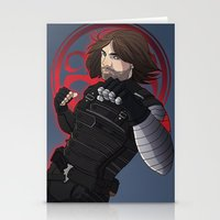 winter soldier Stationery Cards featuring Winter Soldier  by Inkforwords