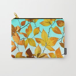 Autumn Leaves Azure Sky Carry-All Pouch