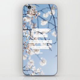 Travel Light, Live Light, Spread The Light, Be The Light iPhone Skin