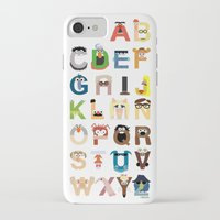 party iPhone & iPod Cases featuring Muppet Alphabet by Mike Boon