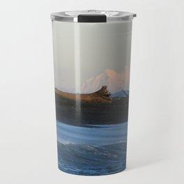 Mt. Rainer and the shoreline Travel Mug