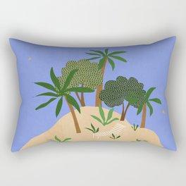 The Desert Island Rectangular Pillow