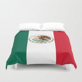 Flag of Mexico - alt version with seal insert Duvet Cover