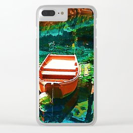 A Row Boat to Nowhere Clear iPhone Case