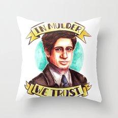 In Mulder We Trust Throw Pillow
